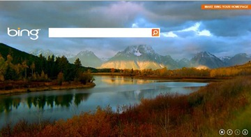 Bing HTML5 front page
