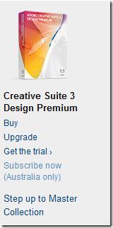 Adobe CS3 subscription