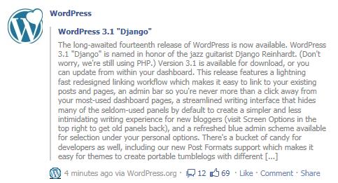 WordPress 3.1 Django details leaked