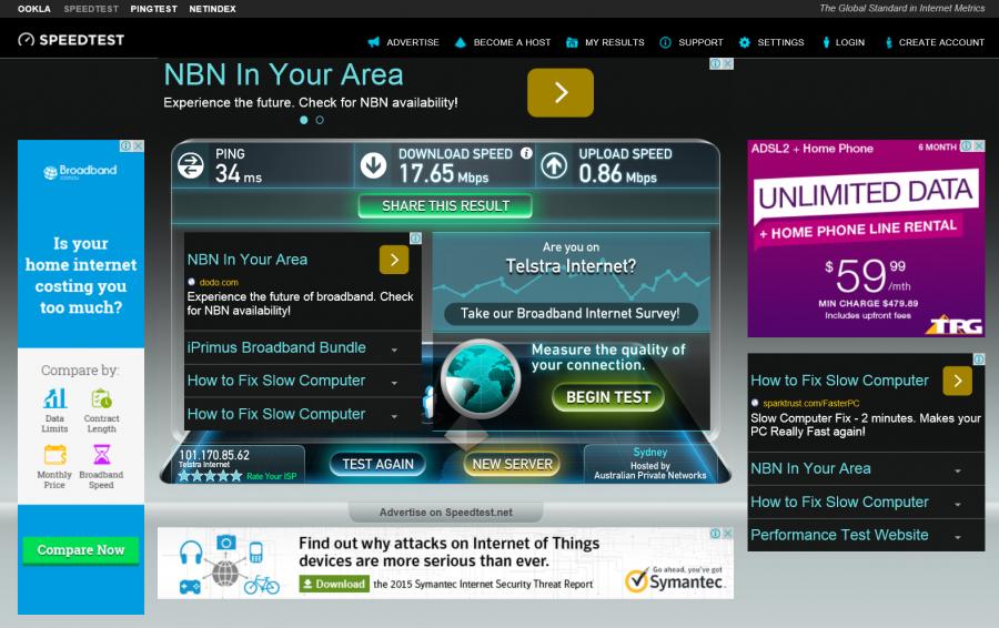 ADSL2 result