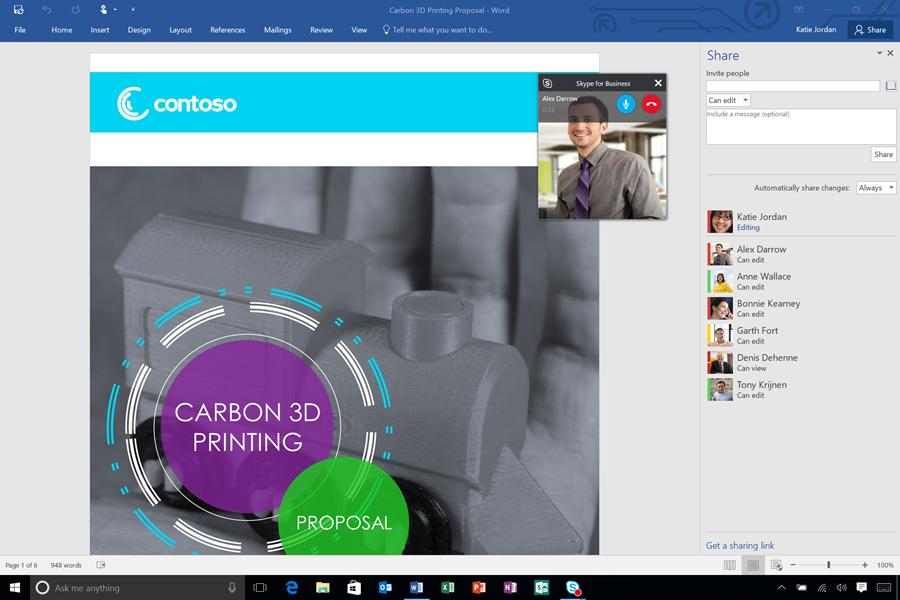 03. Office 2016 Skype for Business Integration - Video