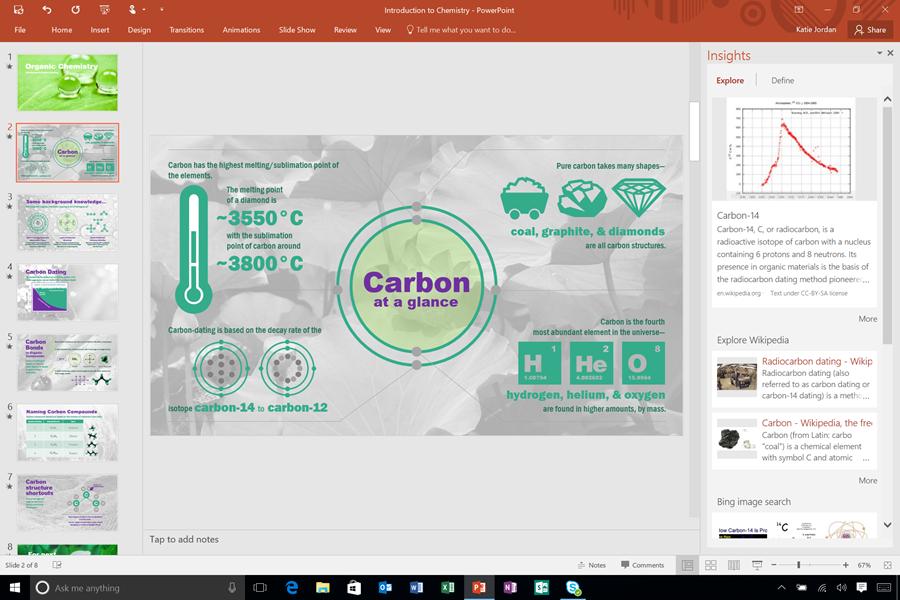 12. Office 2016 Smart Lookup