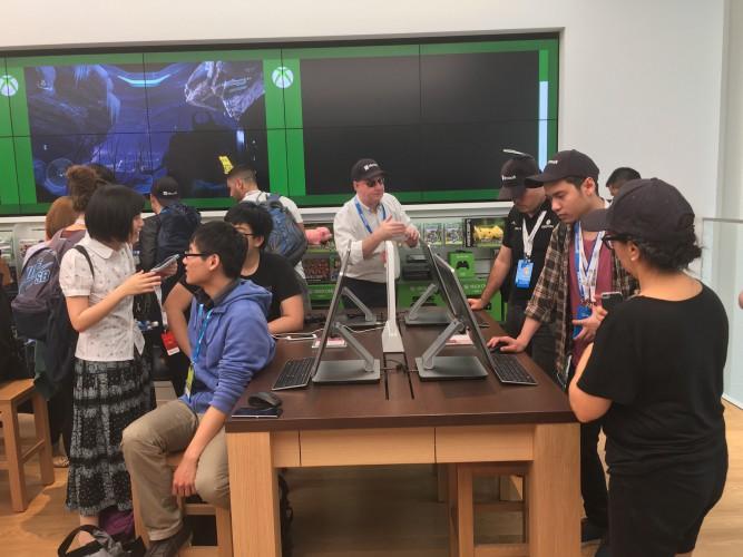 Inside the Microsoft store